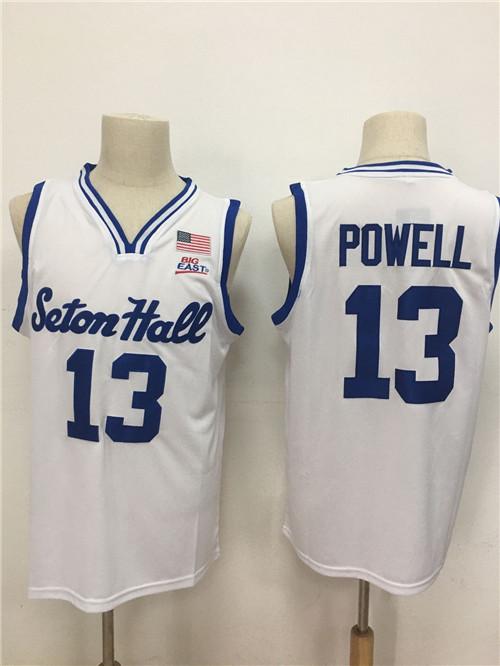 Seton Hall Pirates 13 Myles Powell White Nike College Basketball Jersey