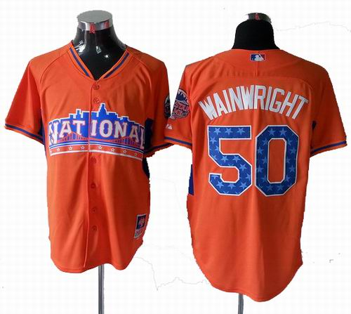 St. Louis Cardinals #50 Adam Wainwright National League 2013 All Star Jersey