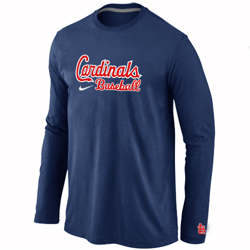 St. Louis Cardinals Long Sleeve T-Shirt D.Blue