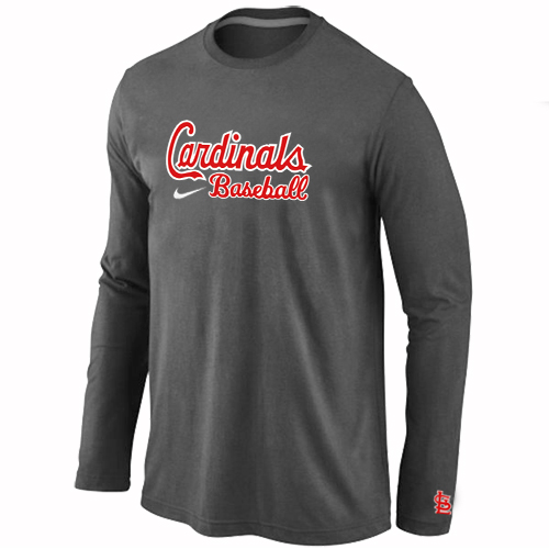 St. Louis Cardinals Long Sleeve T-Shirt D.Grey