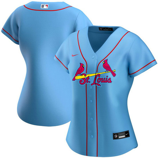 St. Louis Cardinals Nike Women's Alternate 2020 MLB Team Jersey Light Blue