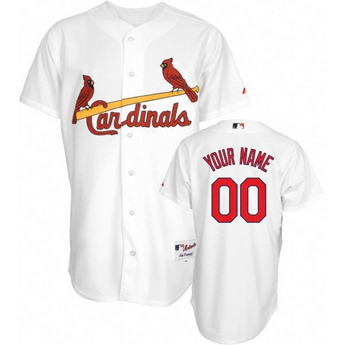 St. Louis Cardinals Personalized Custom White MLB Jersey