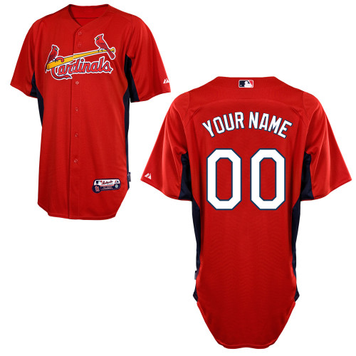 St. Louis Cardinals Personalized Custom red MLB Jersey