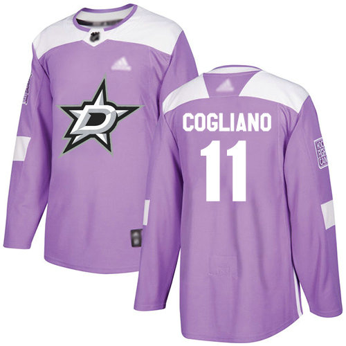 Stars #11 Andrew Cogliano Purple Authentic Fights Cancer Stitched Hockey Jersey