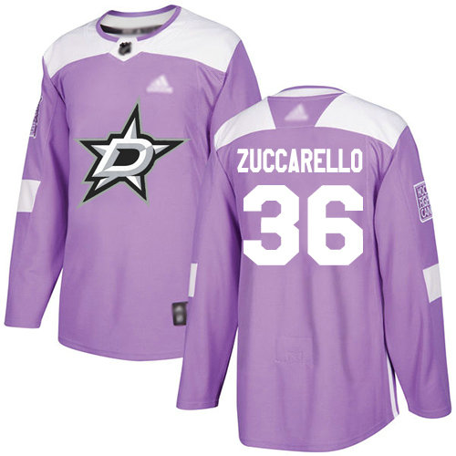 Stars #36 Mats Zuccarello Purple Authentic Fights Cancer Youth Stitched Hockey Jersey