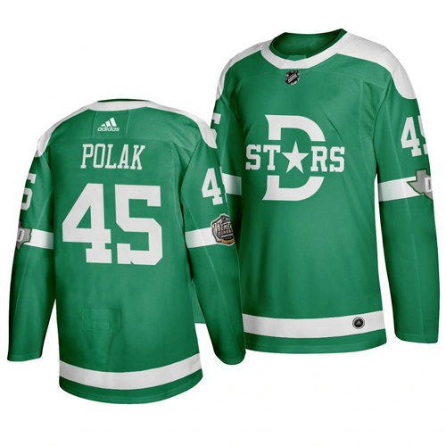 Stars 45 Roman Polak Green 2020 Winter Classic Adidas Jersey