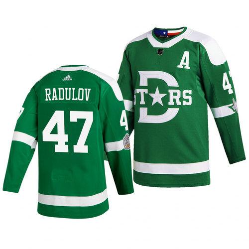 Stars 47 Alexander Radulov Green 2020 Winter Classic Adidas Jersey
