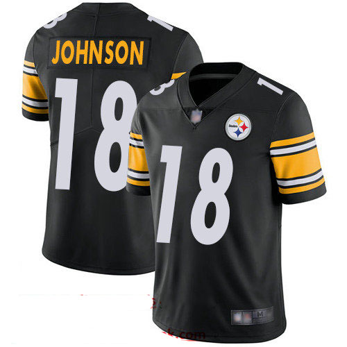 Steelers #18 Diontae Johnson Black Team Color Youth Stitched Football Vapor Untouchable Limited Jersey