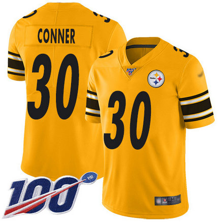 Steelers #30 James Conner Gold Youth Stitched Football Limited Inverted Legend 100th Season Jersey