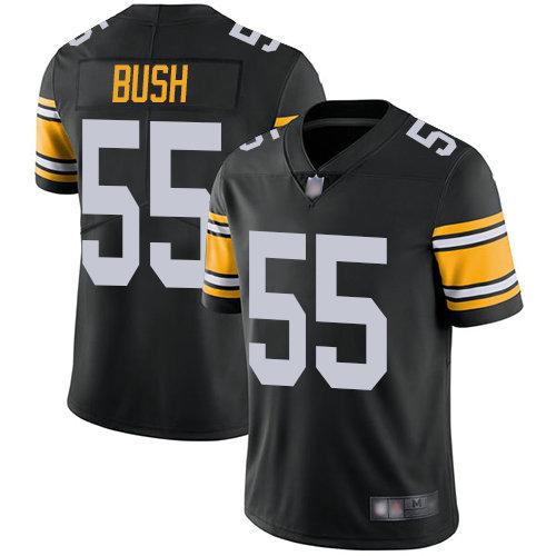 Steelers #55 Devin Bush Black Alternate Men's Stitched Football Vapor Untouchable Limited Jersey