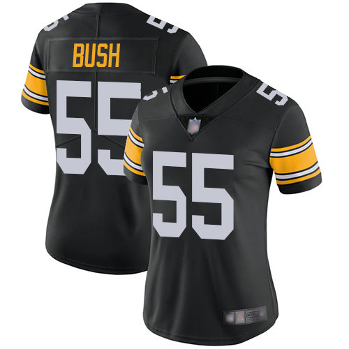 Steelers #55 Devin Bush Black Alternate Women's Stitched Football Vapor Untouchable Limited Jersey