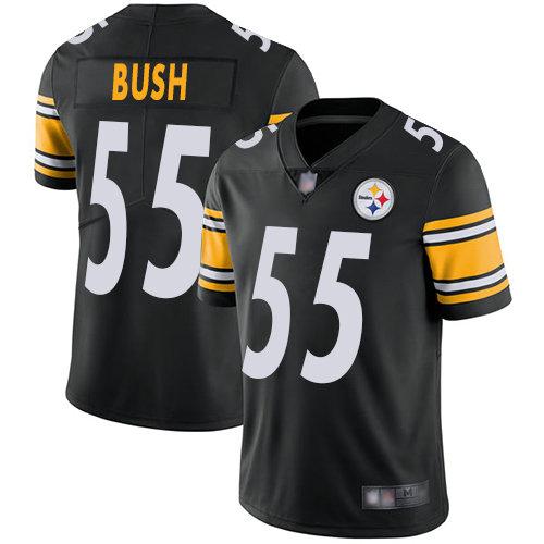 Steelers #55 Devin Bush Black Team Color Men's Stitched Football Vapor Untouchable Limited Jersey