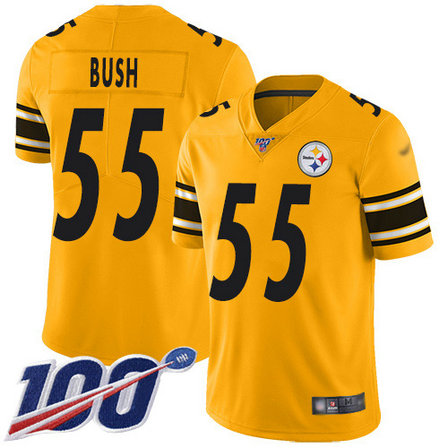 Steelers #55 Devin Bush Gold Youth Stitched Football Limited Inverted Legend 100th Season Jersey