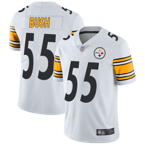 Steelers #55 Devin Bush White Youth Stitched Football Vapor Untouchable Limited Jersey