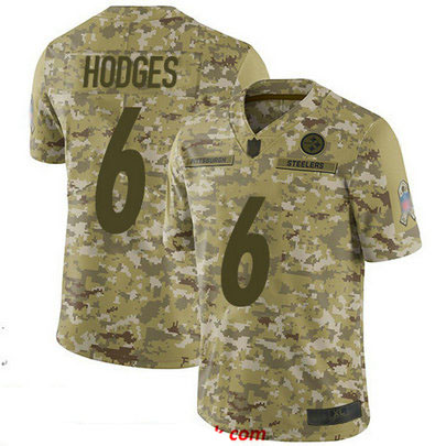 Steelers #6 Devlin Hodges Camo Men's Stitched Football Limited 2018 Salute To Service Jersey