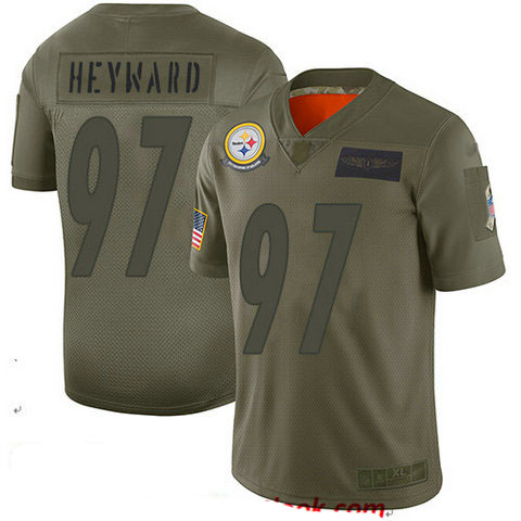 Steelers #97 Cameron Heyward Camo Men's Stitched Football Limited 2019 Salute To Service Jersey