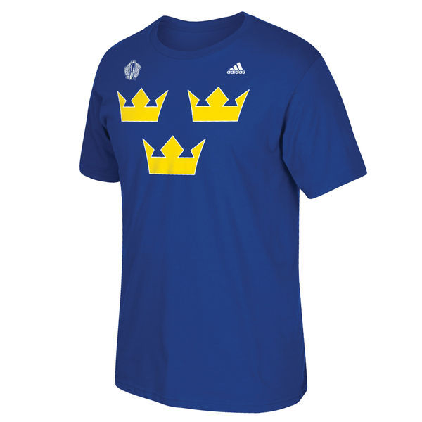 Sweden Hockey 2016 World Cup of Hockey Primary Logo T-Shirt - Royal