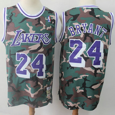 Swingman Lakers #24 Kobe Bryant Camo Stitched Basketball Jersey
