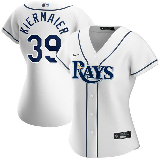 Tampa Bay Rays #39 Kevin Kiermaier Nike Women's Home 2020 MLB Player Jersey White