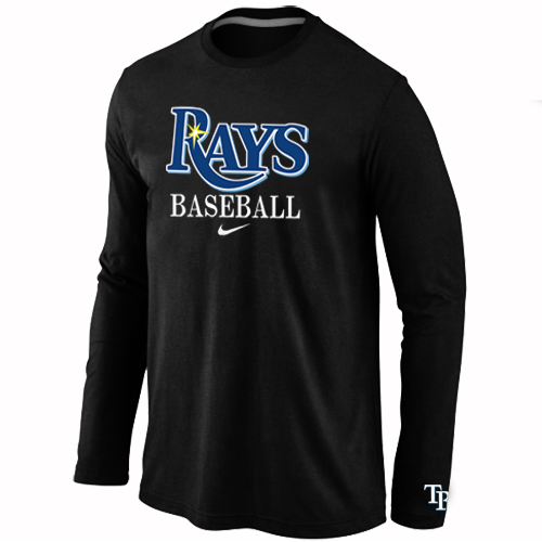 Tampa Bay Rays Long Sleeve T-Shirt Black
