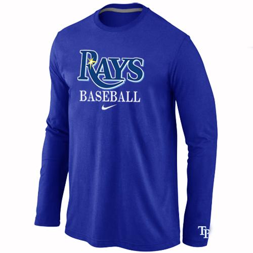 Tampa Bay Rays Long Sleeve T-Shirt Blue