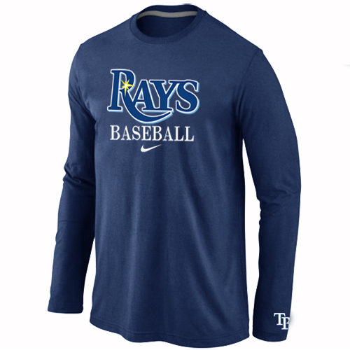 Tampa Bay Rays Long Sleeve T-Shirt D.Blue