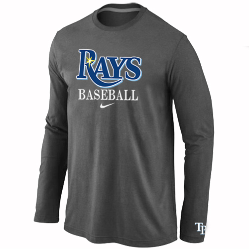Tampa Bay Rays Long Sleeve T-Shirt D.Grey