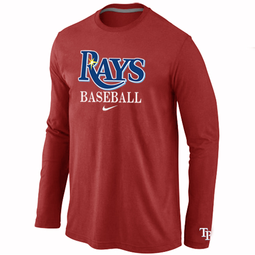 Tampa Bay Rays Long Sleeve T-Shirt RED