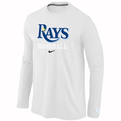 Tampa Bay Rays Long Sleeve T-Shirt White