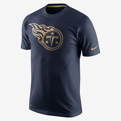 Tennessee Titans Nike Navy Championship Drive Gold Collection Performance T-Shirt