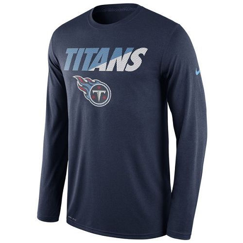 Tennessee Titans Nike Navy Legend Staff Practice Long Sleeves Performance T-Shirt