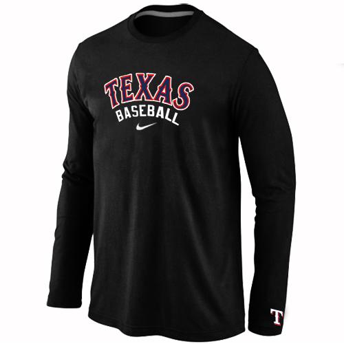 Texas Rangers  Long Sleeve T-Shirt Black