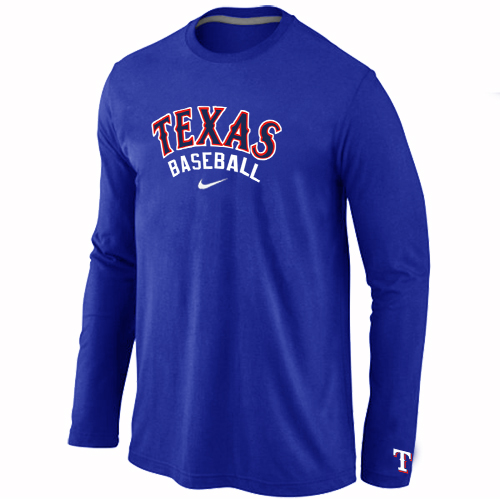 Texas Rangers  Long Sleeve T-Shirt Blue