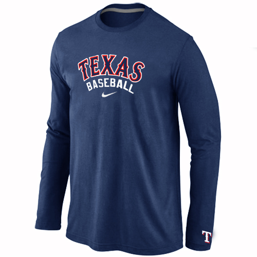 Texas Rangers Long Sleeve T-Shirt D.Blue