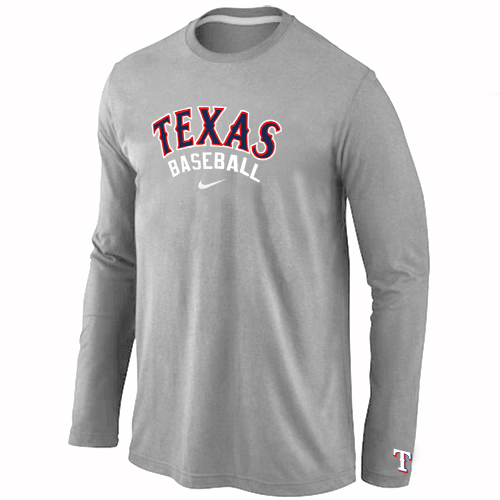 Texas Rangers Long Sleeve T-Shirt Grey