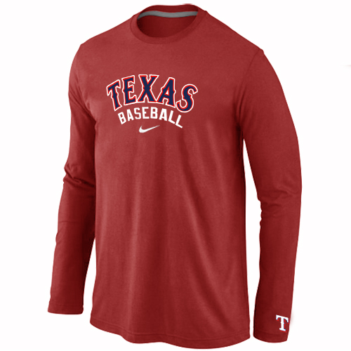 Texas Rangers Long Sleeve T-Shirt RED
