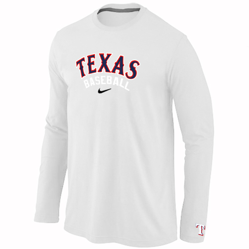 Texas Rangers Long Sleeve T-Shirt WHITE
