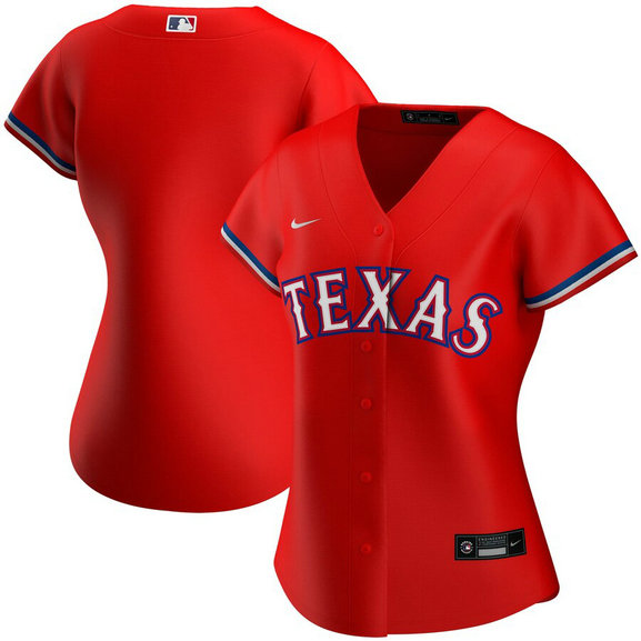 Texas Rangers Nike Women's Alternate 2020 MLB Team Jersey Red