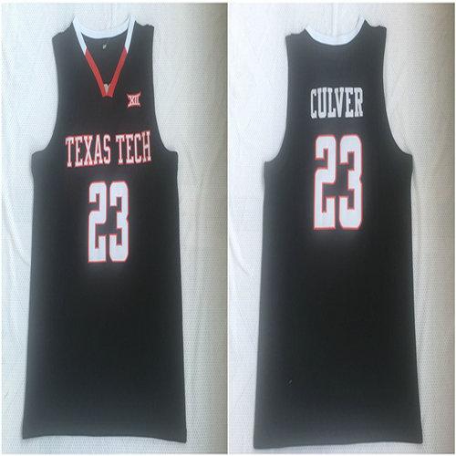 Texas Tech Red Raiders 23 Jarrett Culver Black College Basketball Jersey