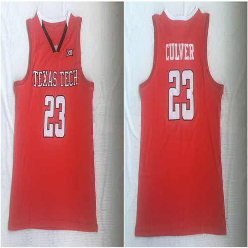 Texas Tech Red Raiders 23 Jarrett Culver Red College Basketball Jersey