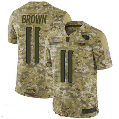 Titans #11 A.J. Brown Camo Youth Stitched Football Limited 2018 Salute to Service Jersey