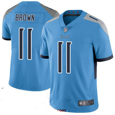 Titans #11 A.J. Brown Light Blue Alternate Youth Stitched Football Vapor Untouchable Limited Jersey