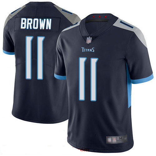 Titans #11 A.J. Brown Navy Blue Team Color Youth Stitched Football Vapor Untouchable Limited Jersey