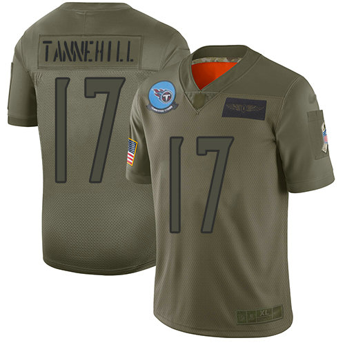 Titans #17 Ryan Tannehil Camo Youth Stitched Football Limited 2019 Salute to Service Jersey
