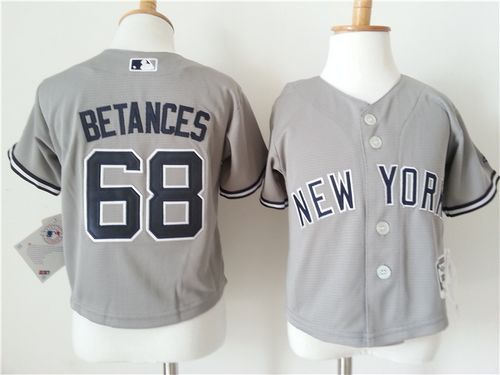 Toddler New York Yankees 68 Dellin Betances Grey Cool Base Baseball Jersey