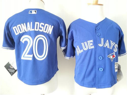 Toddler Toronto Blue Jays 20 Josh Donaldson Blue Cool Base Baseball Jersey