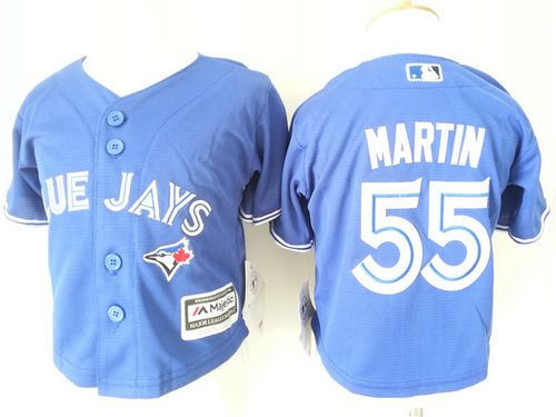 Toddler Toronto Blue Jays 55 Russell Martin Blue Cool Base Baseball Jersey