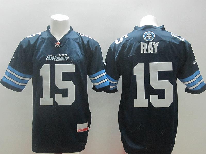 Toronto Argonauts 15 Ricky Ray Navy Blue Stitched CFL Jersey