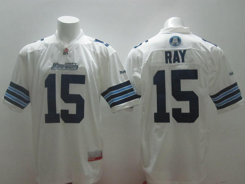 Toronto Argonauts 15 Ricky Ray White Stitched CFL Jersey