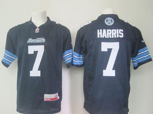Toronto Argonauts 7 Trevor Harris Navy Blue CFL Jersey